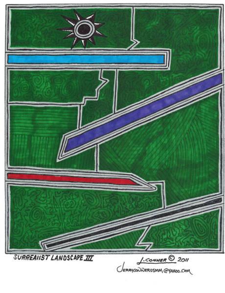 Generative Painting - Surrealist Landscape 3 by Jerry Conner