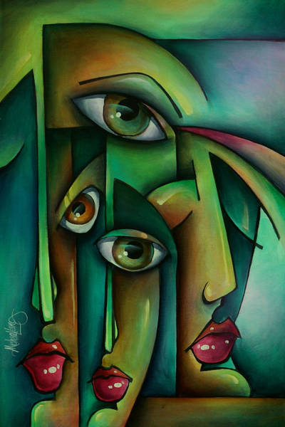 Emo Painting - 'suspicion' by Michael Lang