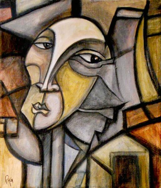 Primal Painting - Suspicious Mind by Roy Guzman