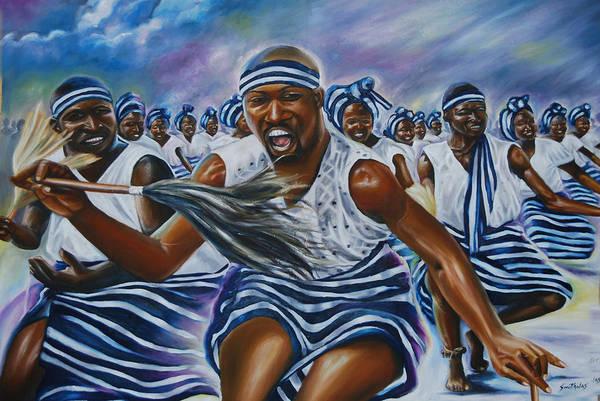 Lagos Painting - Swag Dance by Olaoluwa Smith
