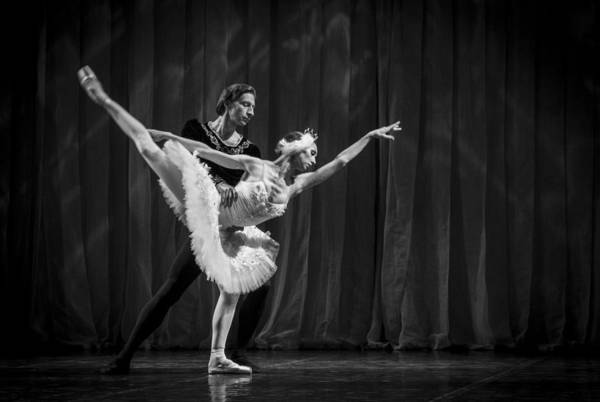 Photograph - Swan Lake  White Adagio  Russia 3 by Clare Bambers
