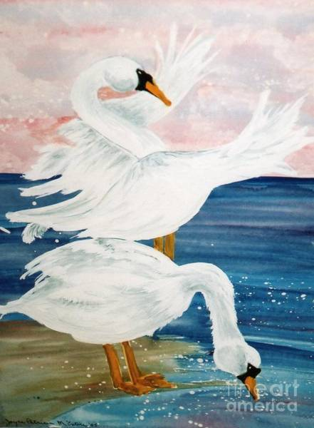 Water Foul Painting - Swan Lovers by Patti McEntire
