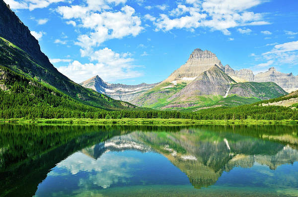 Photograph - Swiftcurrent Reflections by Greg Norrell