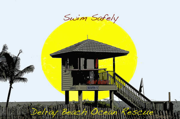 Swim Safely Art Print