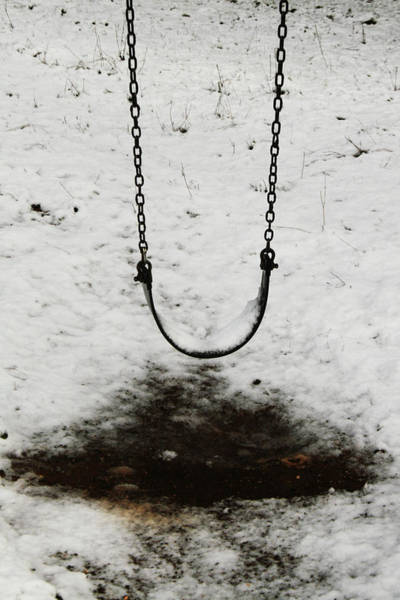 Swing In Snow Art Print