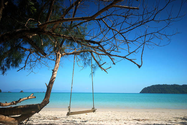 Wall Art - Photograph - Swing On The Beach by Teerapat Pattanasoponpong