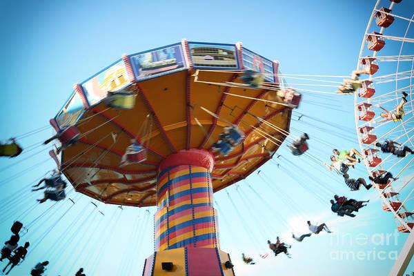 Photograph - Swings by Leslie Leda