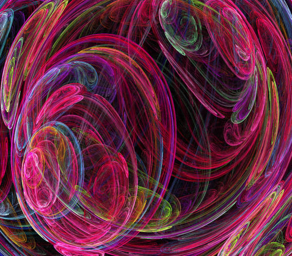 Flames Digital Art - Swirling Energy by Ricky Barnard