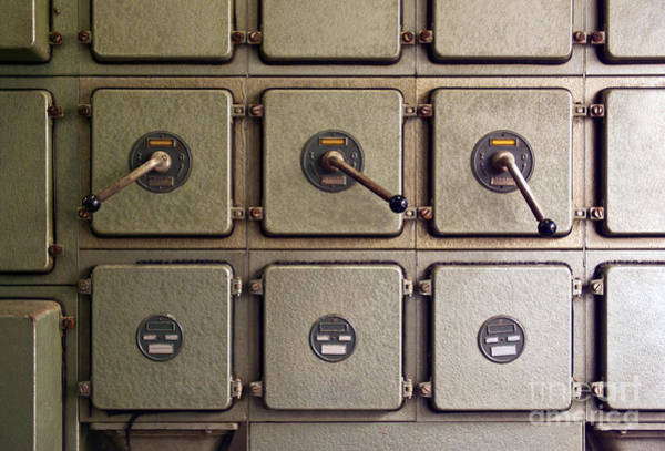 Compressor Photograph - Switch Panel by Carlos Caetano