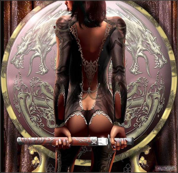 Blades Mixed Media - Swordmaster by Mario  Liberti