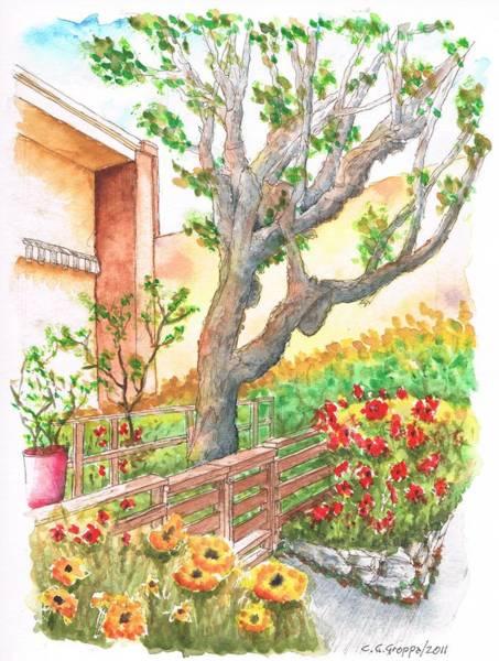 Acuarela Painting - Sycamore Tree In Venice Beach - California by Carlos G Groppa