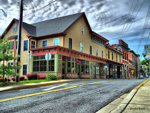 Wall Art - Photograph - Sykesville Shops by Stephen Younts