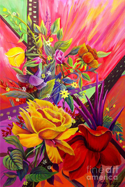 Art Print featuring the painting Symphony by Nancy Cupp