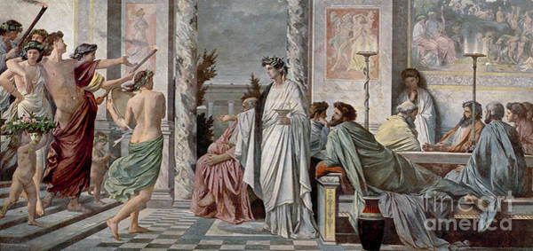 Dialogue Photograph - Symposium Of Plato by Photo Researchers