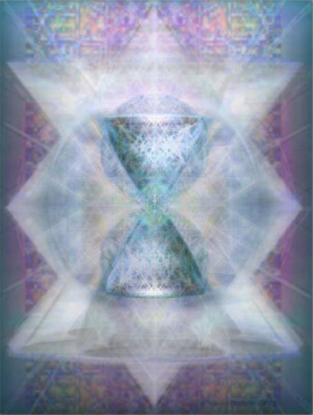 Digital Art - Synthesphered Chalice 'fifouray' On Tapestry by Christopher Pringer