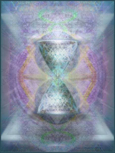 Digital Art - Synthesphered Grail On Caducus Blazed Tapestrys by Christopher Pringer