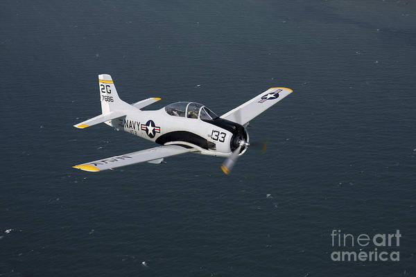 Photograph - T-28 Trojan Trainer Warbird In U.s by Daniel Karlsson