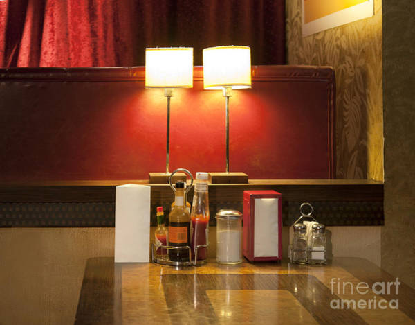 Barbeque Photograph - Table At An Americana Diner by Jaak Nilson