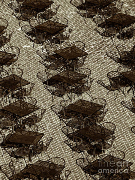 Photograph - Tables And Chairs by Jeff Breiman