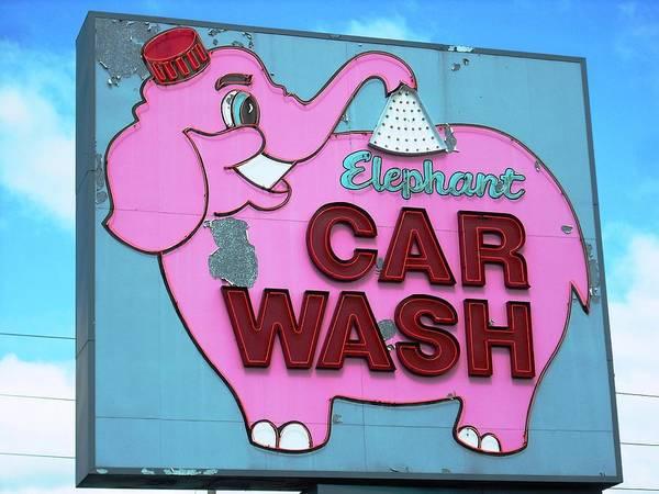 Tacoma Elephant Car Wash  Art Print