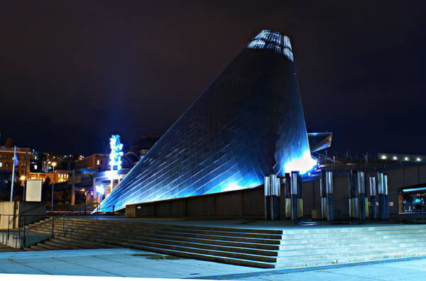 Tacoma Museum Of Glass At Night 1 Art Print