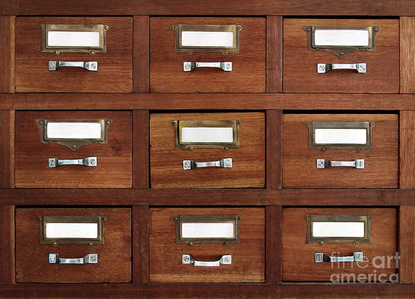 Metal Furniture Photograph - Tagged Drawers by Carlos Caetano