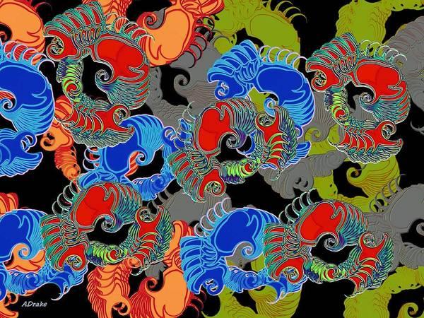 Digital Art - Tainted Shrimp by Alec Drake