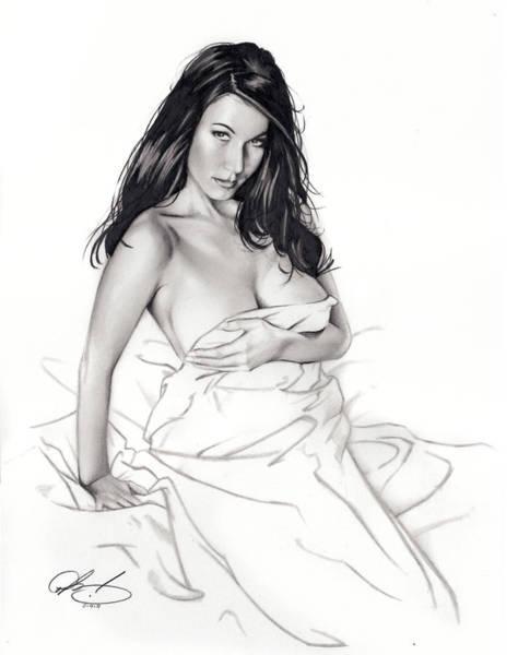 Babe Drawing - Take On Me by Pete Tapang