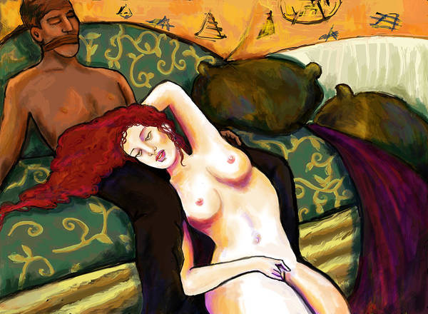 Sexuality Mixed Media - Taking Herself In Hand by Lakota Phillips