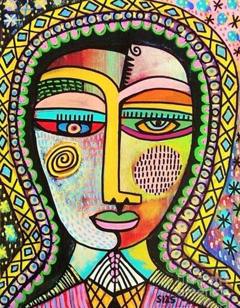 Painting - -talavera Virgin Of Guadalupe Miracles by Sandra Silberzweig