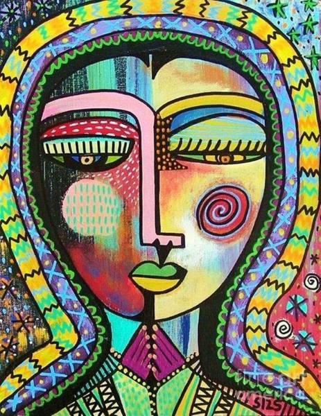 Painting - -talavera Virgin Of Guadalupe Protection by Sandra Silberzweig