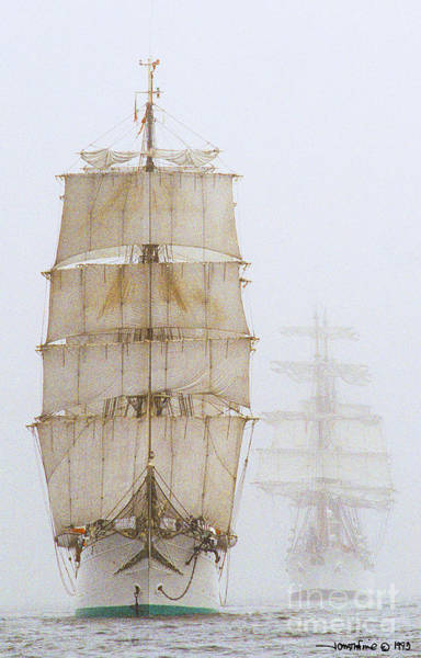 Photograph - Tall Ship Denmark by Jonathan Fine
