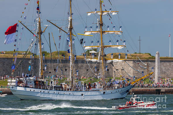 Photograph - Tall Ship Dewaruci At Fort Independence  by Susan Cole Kelly