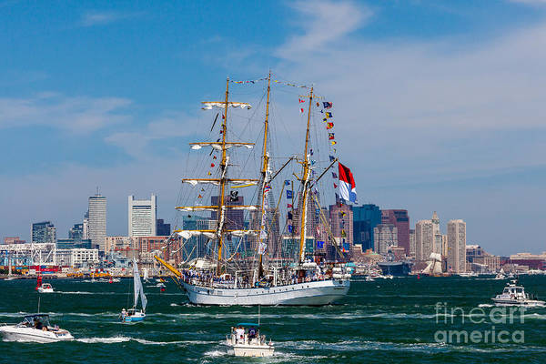 Photograph - Tall Ship Dewaruci Enters Boston by Susan Cole Kelly