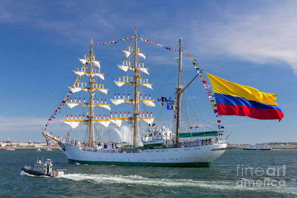 Photograph - Tall Ship Gloria Enters Boston Harbor by Susan Cole Kelly