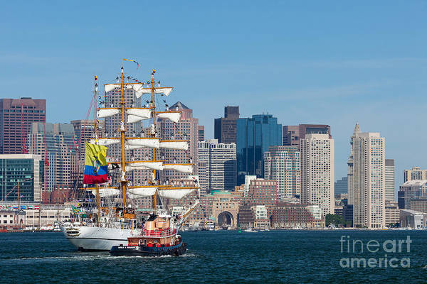 Photograph - Tall Ship Guayas Enters Boston Harbor by Susan Cole Kelly