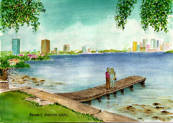 Painting - Tampa Fl Little Pier At Ballast Point by Frank Hunter