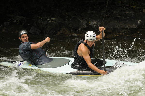 Photograph - Tandem Kayaking by Les Palenik