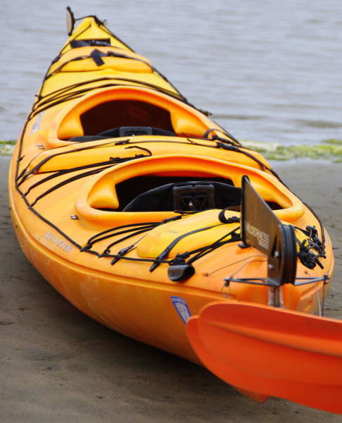 Photograph - Tandem Yellow Kayak by Jeff Lowe