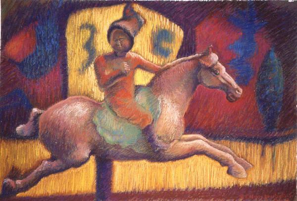 Painting - Tang Horsewoman by Ellen Dreibelbis