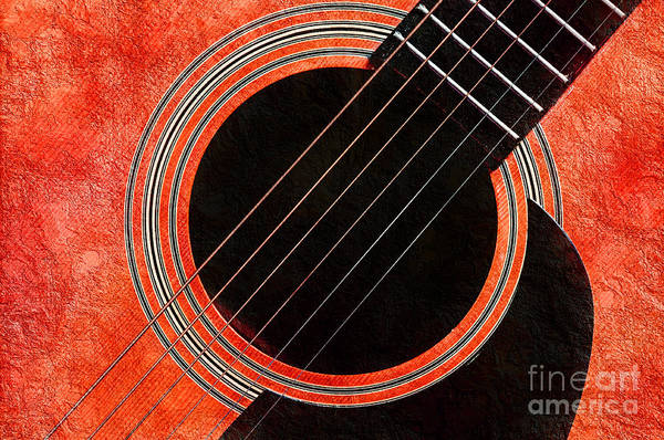 Photograph - Tangerine Guitar by Andee Design