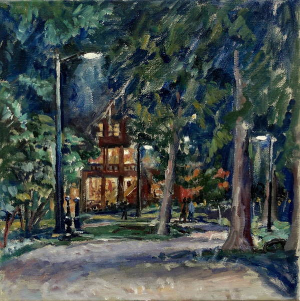 Porch Painting - Tanglewood Nocturne by Thor Wickstrom