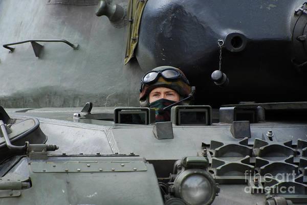 Photograph - Tank Driver Of A Leopard 1a5 Mbt by Luc De Jaeger