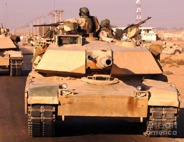 Photograph - Tankers Return Safely To Camp Warhorse by Stocktrek Images