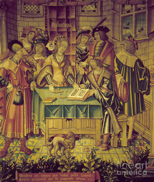 Photograph - Tapestry: Arithmetic, 1520 by Granger