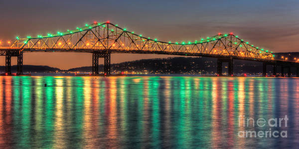Photograph - Tappan Zee Bridge Twilight Panoramic by Clarence Holmes