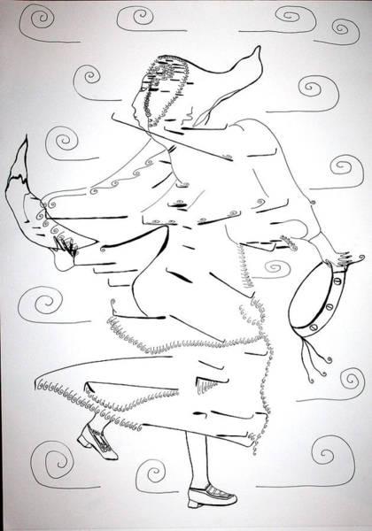 Drawing - Tarantella Dance - Italy by Gloria Ssali
