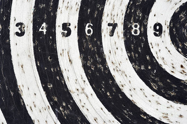 Wall Art - Photograph - Target With Numeral Row by Michal Boubin