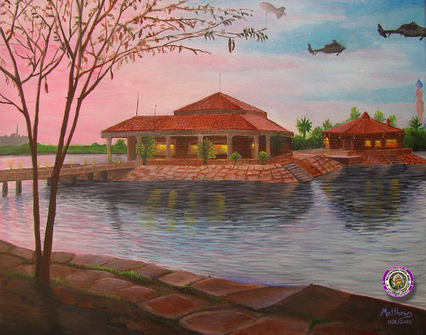 Baghdad Painting - Task Force 134 Headquarters by Michael Matthews