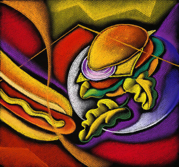 Feast Painting - Lunch Time by Leon Zernitsky